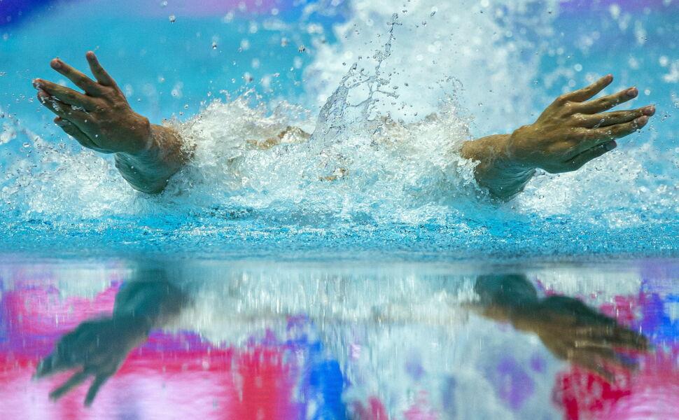 Gustavo Gutierrez podczas mistrzostw świata w pływaniu (Korea Południowa)
