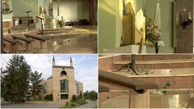 Zniszczyła kościelny ołtarz.