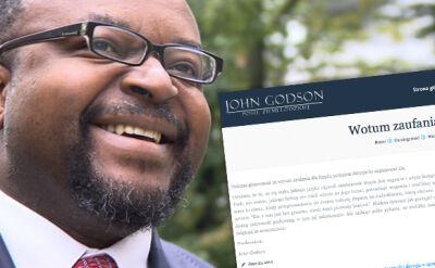 """Dlaczego Godson poparł rząd? """"Zadając sobie pytanie, co zrobiłby Jezus, nie miałem wątpliwości"""""""