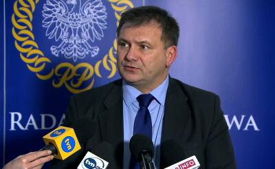 Waldemar Żurek na konferencji prasowej przed nadzwyczajnym posiedzeniem KRS