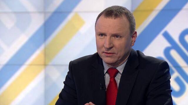 """Jacek Kurski w programie """"Jeden na jeden"""" w TVN24"""