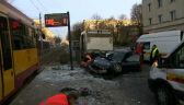 Pijany 31-latek wjechał w przystanek tramwajowy w Łódzi