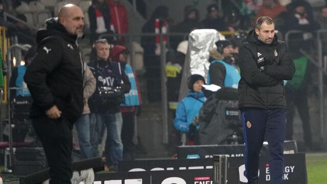 Nie podał ręki przed meczem. Trener Cracovii nie chciał pytań o szkoleniowca rywali