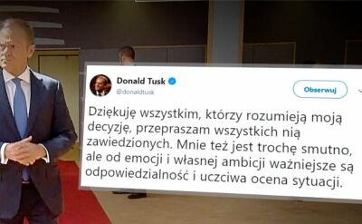 Niejasna polityczna przyszłość Donalda Tuska