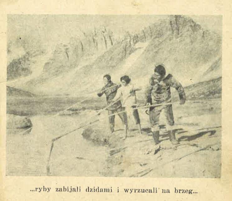"""Ilustracja z książki """"Anaruk, chłopiec z Grenlandii"""""""