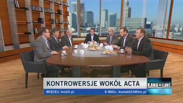Politycy o swoim poparciu lub braku poparcia dla ACTA (TVN24)