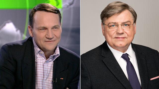 Radosław Sikorski wygrał w kujawsko-pomorskim. Za nim Kosma Złotowski