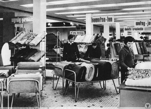 Asortyment domu handlowego w latach 60. XX wieku