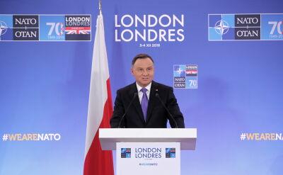 Andrzej Duda o Rosji: pewne jej działania są nieakceptowalne