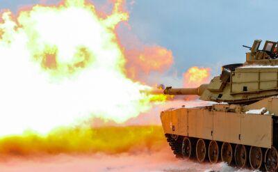Amerykańskie czołgi M1 Abrams na polskim poligonie