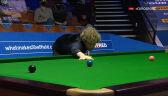 Setka Robertsona w 1. frejmie ćwierćfinału mistrzostw świata w snookerze