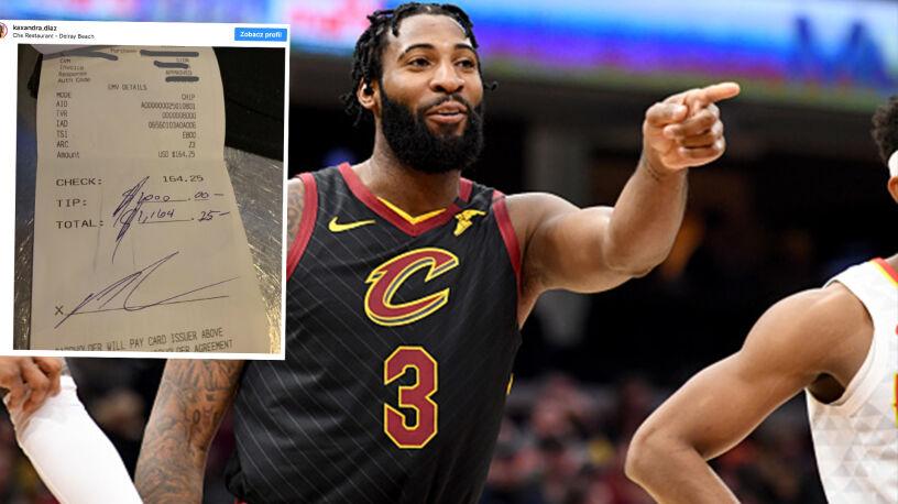 Wielki gest koszykarza, zostawił tysiąc dolarów napiwku
