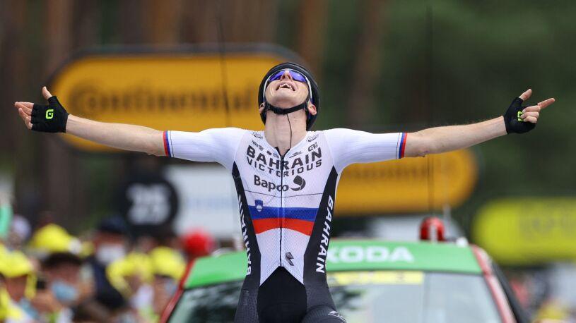 Radość i smutek Słoweńców. Jeden wygrał etap, drugi stracił szanse na końcowe zwycięstwo