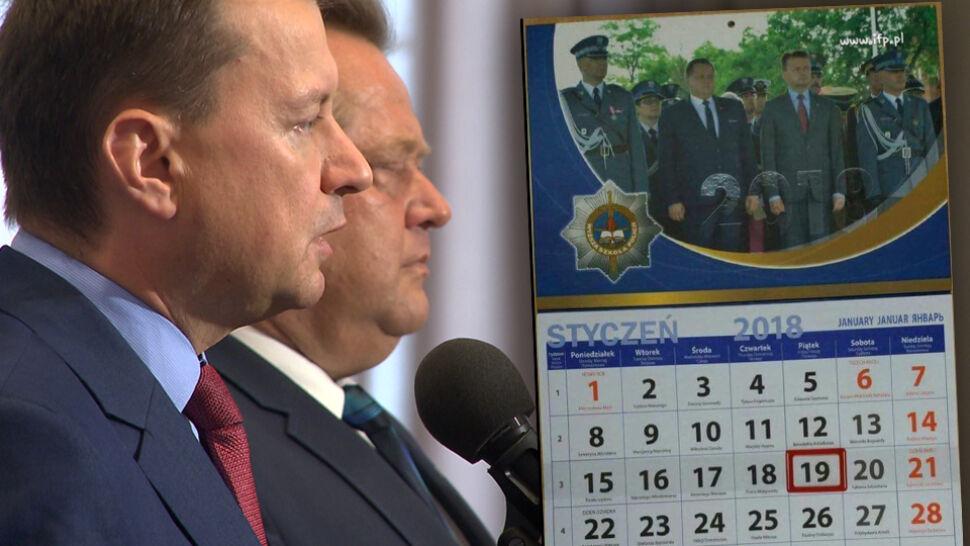 """Szefowie MSWiA bohaterami policyjnego kalendarza. """"Podlizywanie się władzy"""""""