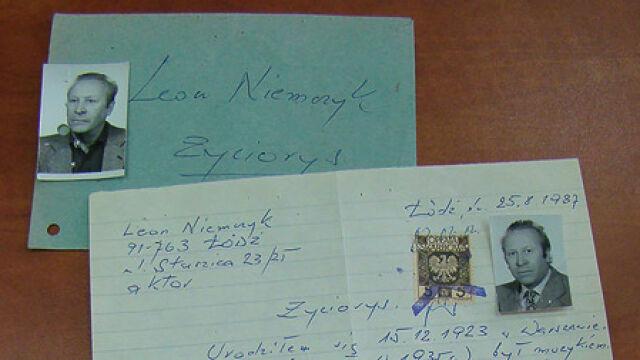 Życiorys Leona Niemczyka w policyjnym archiwum