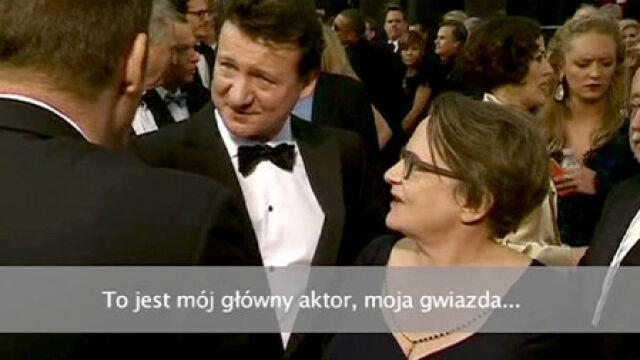 """This is my star."" ""Robert. Robert Więckiewicz"""