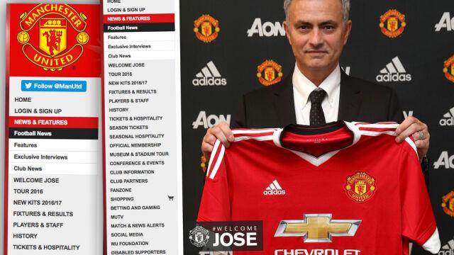 """""""Witaj, Jose"""". Mourinho oficjalnie Czerwonym Diabłem"""