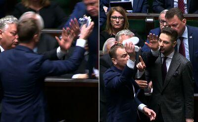 Poseł Nitras próbował ponownie położyć dziecięce buciki przed prezesem PiS