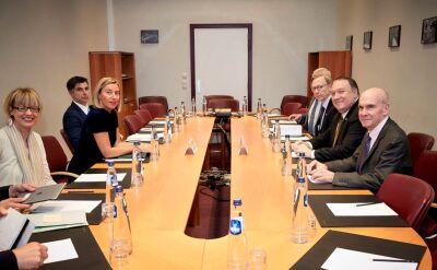 Mike Pompeo spotkał się z Federicą Mogherini w sprawie Iranu