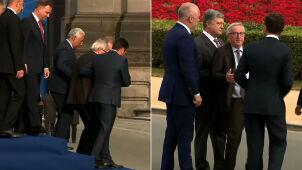 Problemy Junckera w czasie szczytu NATO. Pomagało mu wielu przywódców