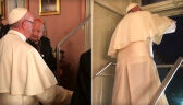 Papież Franciszek przed wyjściem do papieskiego okna