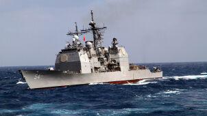 Amerykańskie okręty w Cieśninie Tajwańskiej. Pekin