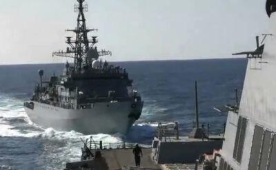 Niebezpieczny incydent na Morzu Arabskim