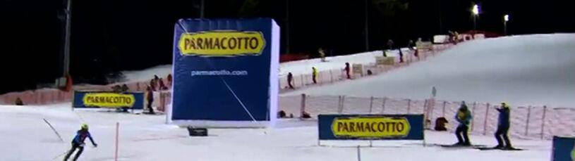 Intruz na trasie slalomu. Wyrzucił alpejczyka z rywalizacji