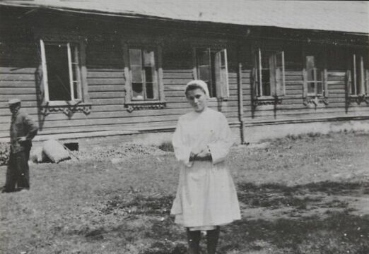 Chełm, Ochronka PCK, pełniąca funkcje szpitala dla ludności polskiej podczas okupacji. W 1943 r. trafili do niej uciekinierzy z Wołynia, fot. ze zbiorów Muzeum Chełma