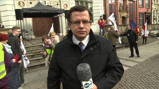 Przygotowania do manifestacji w Gdańsku
