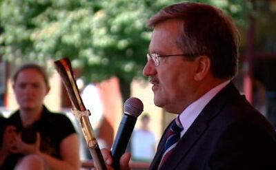 Bronisław Komorowski na wiecu w Brodnicy