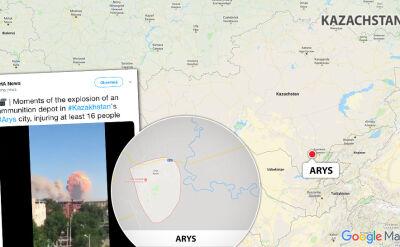 Ewakuacja miasta Arys po wybuchu w magazynie amunicji