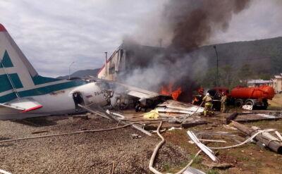 Samolot w Niżnieangarsku lądował awaryjnie, wypadł z pasa