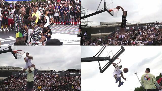 Gwiazdy NBA na konkursie wsadów w Paryżu. Griffin został przeskoczony