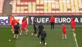 Trening Slavii Praga przed meczem z Arsenalem w ćwierćfinale Ligi Europy