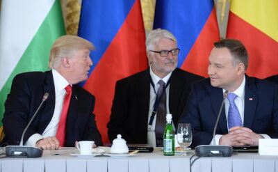 President Andrzej Duda at the summit of the Three Seas