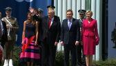 Powitanie Donalda Trumpa na placu Krasińskich