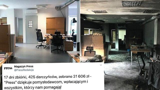 W pożarze stracili redakcję. W 17 dni zebrano ponad 31 tysięcy złotych