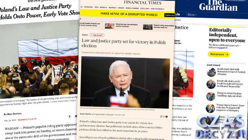 Komentarze zagraniczne na temat sondażowych wyników wyborów w Polsce