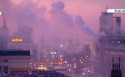 Pożar kamienicy w centrum Warszawy