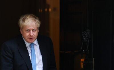 Boris Johnson podczas wizyty w Luksemburgu