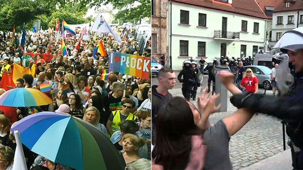Pierwszy Marsz Równości przeszedł ulicami Płocka. Dwie osoby zatrzymane