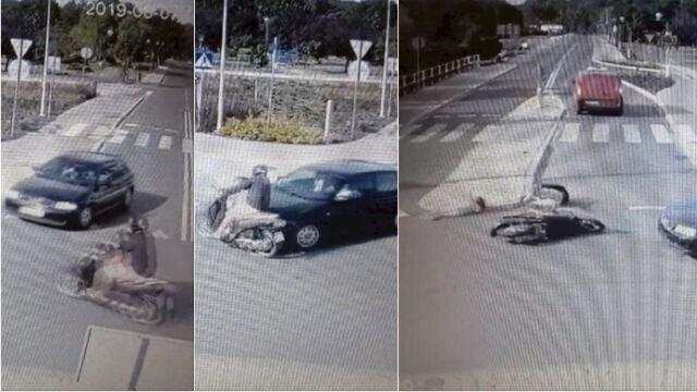 Nie ustąpiła pierwszeństwa, uderzyła w motorower. Jechał nim mężczyzna z siedmioletnią córką