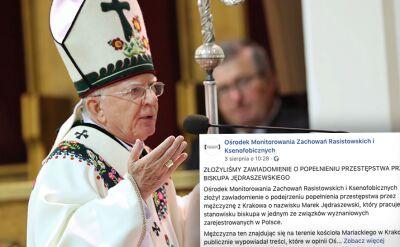 Zawiadomienie o popełnieniu przestępstwa przez arcybiskupa Jędraszewskiego