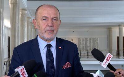 Jan Mosiński o lotach marszałka Kuchcińskiego