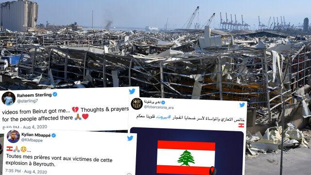"""""""Nagrania te złamały mi serce"""". Piłkarze solidarni z ofiarami w Bejrucie"""
