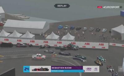 Pech Buemiego na początku 7. rundy Formula E Race at Home Challenge