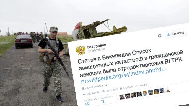 """Kreml znów """"poprawiał"""" historię. Wielokrotnie edytował wpis o katastrofie"""