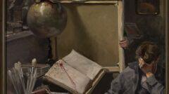 Józef Rapacki - Scena w pracowni malarskiej
