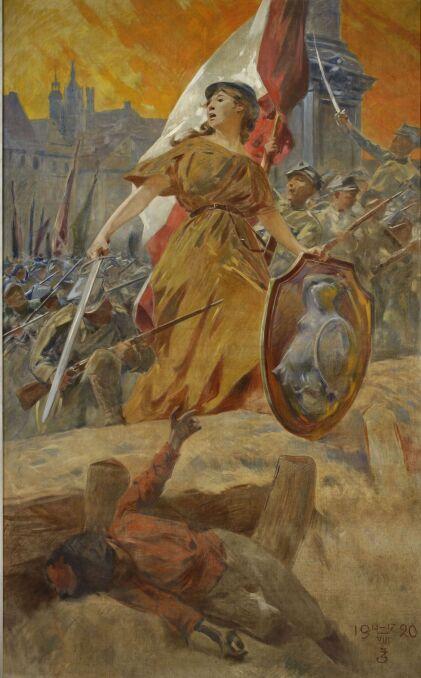 Zdzisław Jasiński - Alegoria zwycięstwa w 1920 roku
